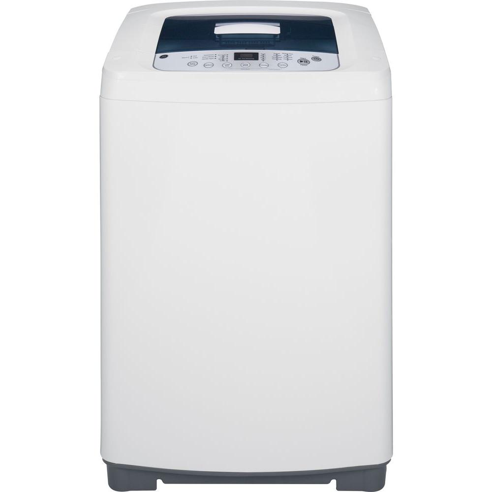 GE 2.6 cu. ft. Stationary Top Load Washing Machine in White