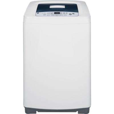 2.6 cu. ft. Stationary Top Load Washing Machine in White