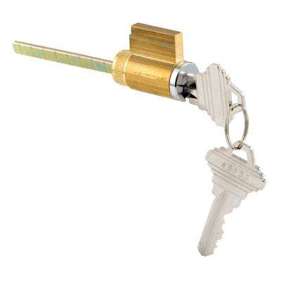 1-7/8 in. Brass Housing with Chrome Plated Face, Cylinder Lock, Schlage Shaped Keyway and Keys