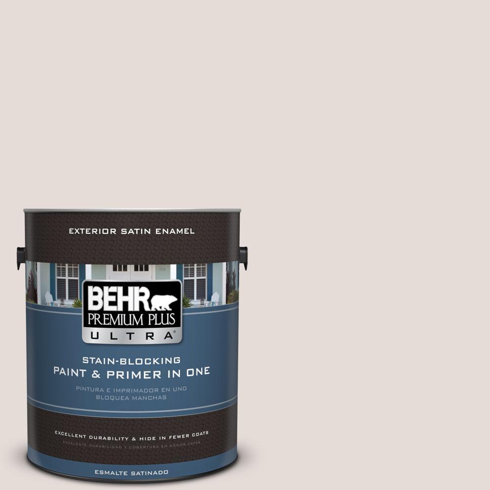 BEHR Premium Plus Ultra 1-gal. #N220-1 Spun Wool Satin Enamel Exterior Paint