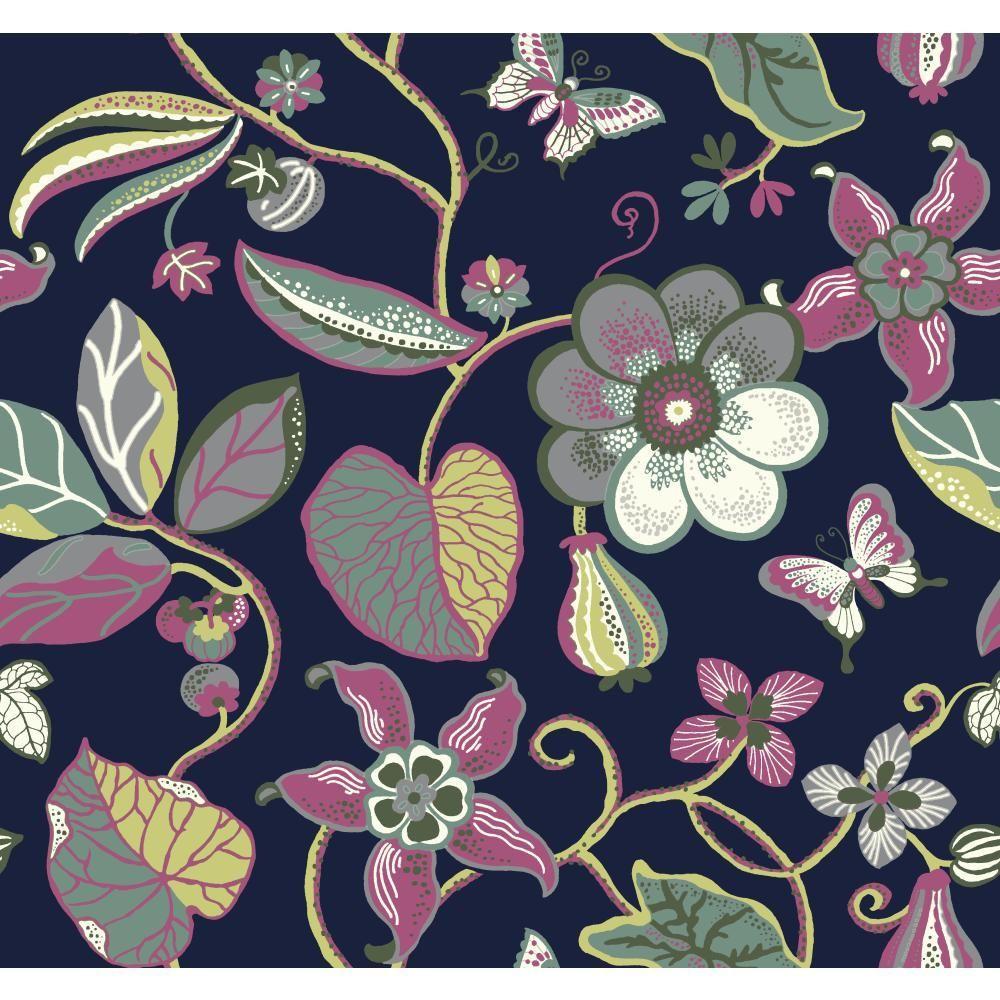York Wallcoverings Carey Lind Vibe Jaco Floral Wallpaper