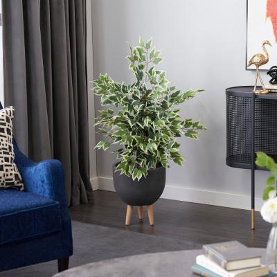 Green 45 in. Ficus Tree Artificial Decorative Foliage