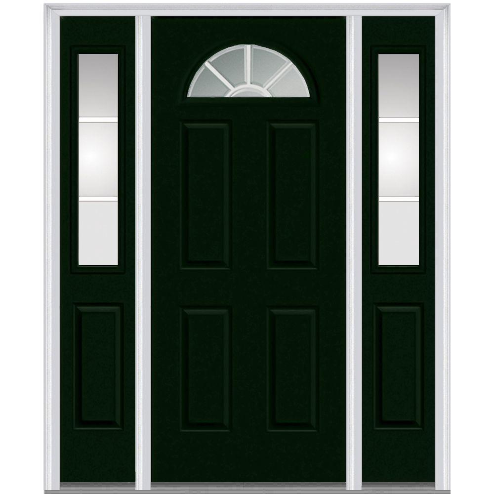 Mmi Door 60 In X 80 In Internal Grilles Right Hand 14 Lite Clear