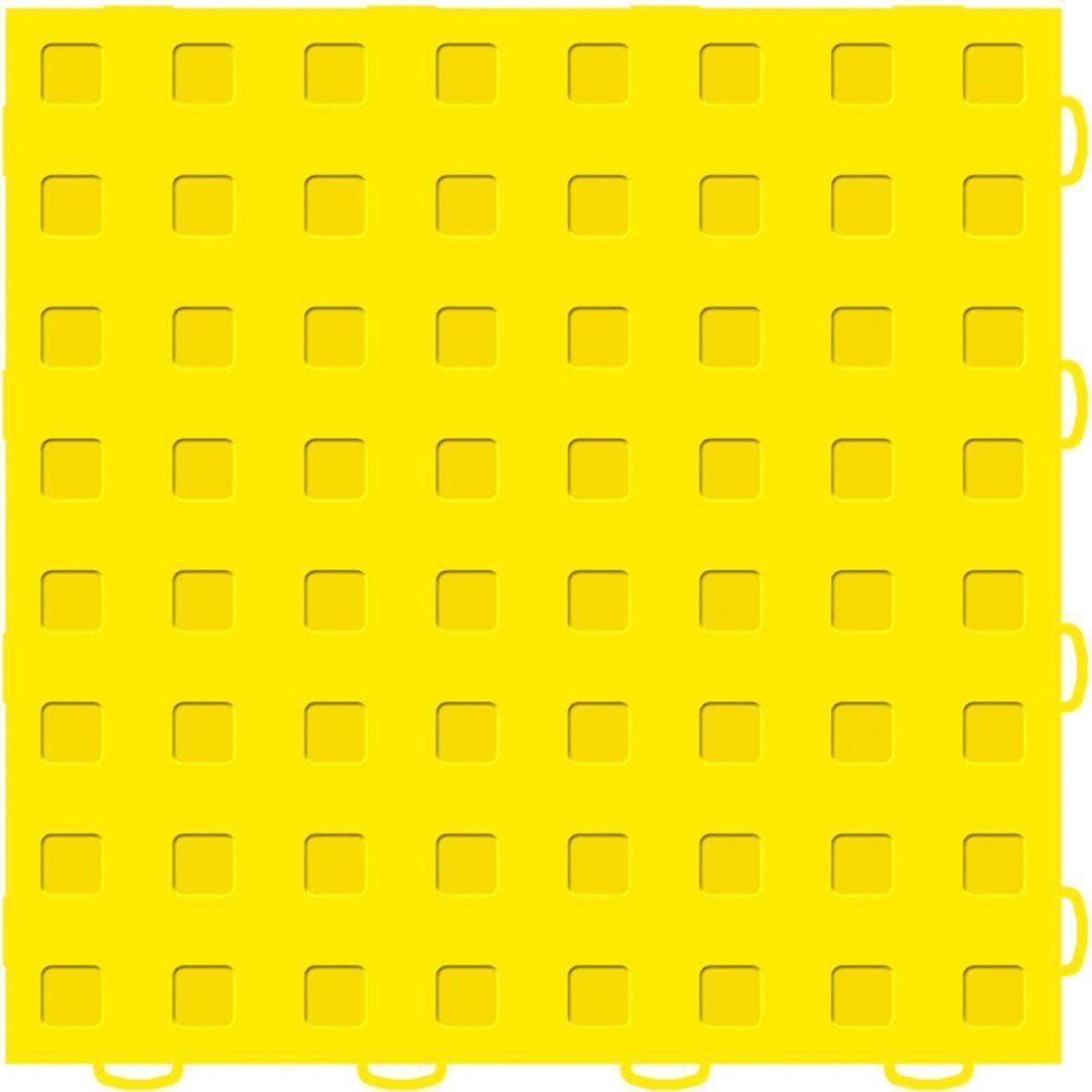 WeatherTech TechFloor 12 in. x 12 in. Yellow/Yellow Vinyl Flooring Tiles (Quantity of 10)