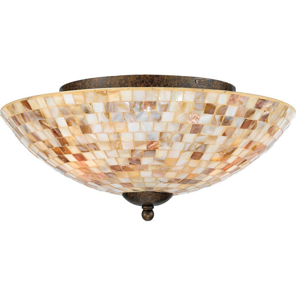 Filament Design Monroe 3-Light Malaga Incandescent Ceiling Semi-Flush Mount Light