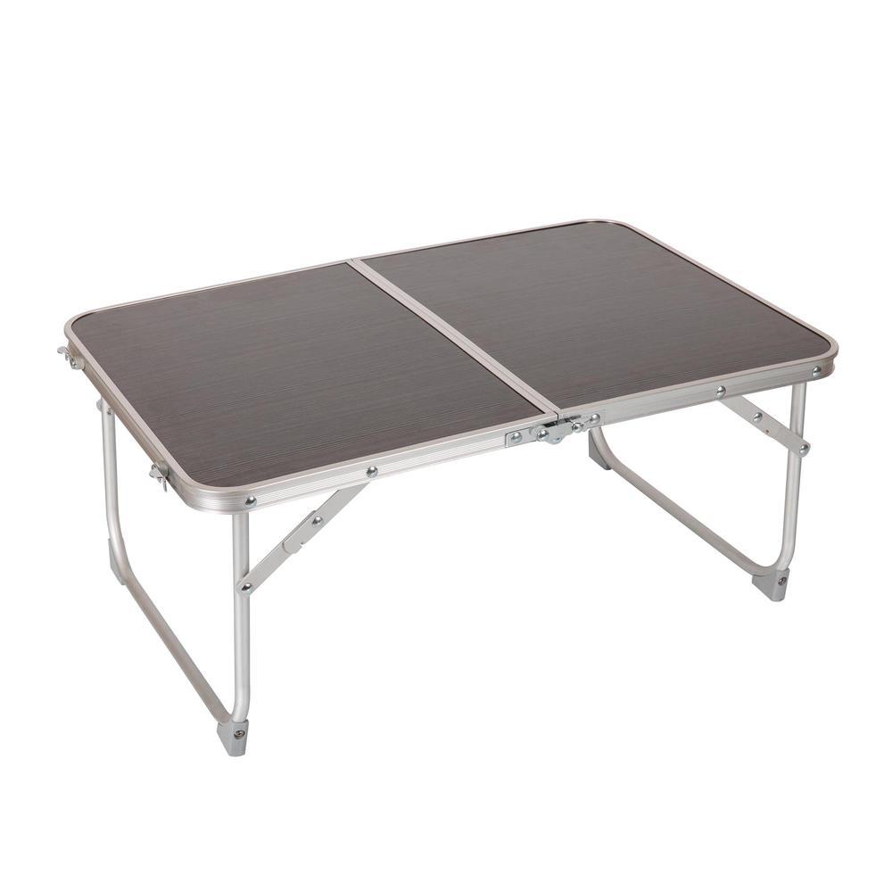Charcoal Wood Grain Portable Concert Table