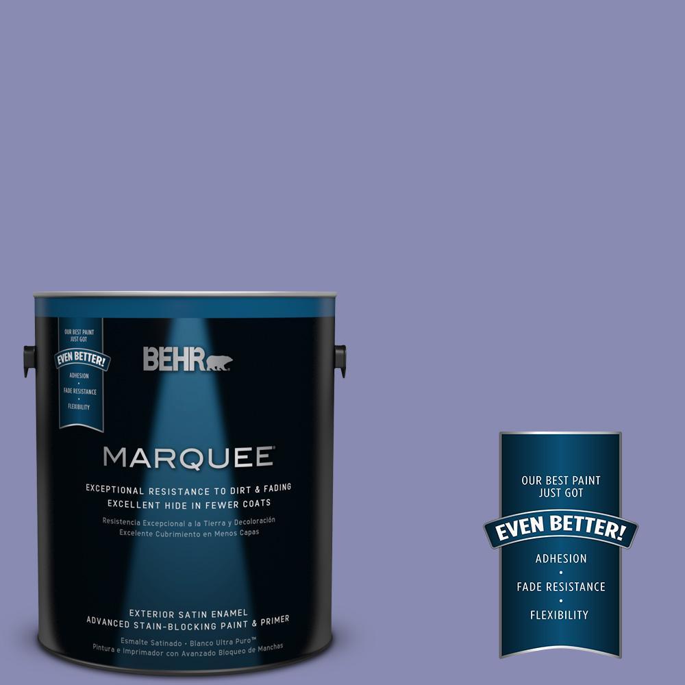 BEHR MARQUEE 1-gal. #M550-5 Violet Aura Satin Enamel Exterior Paint