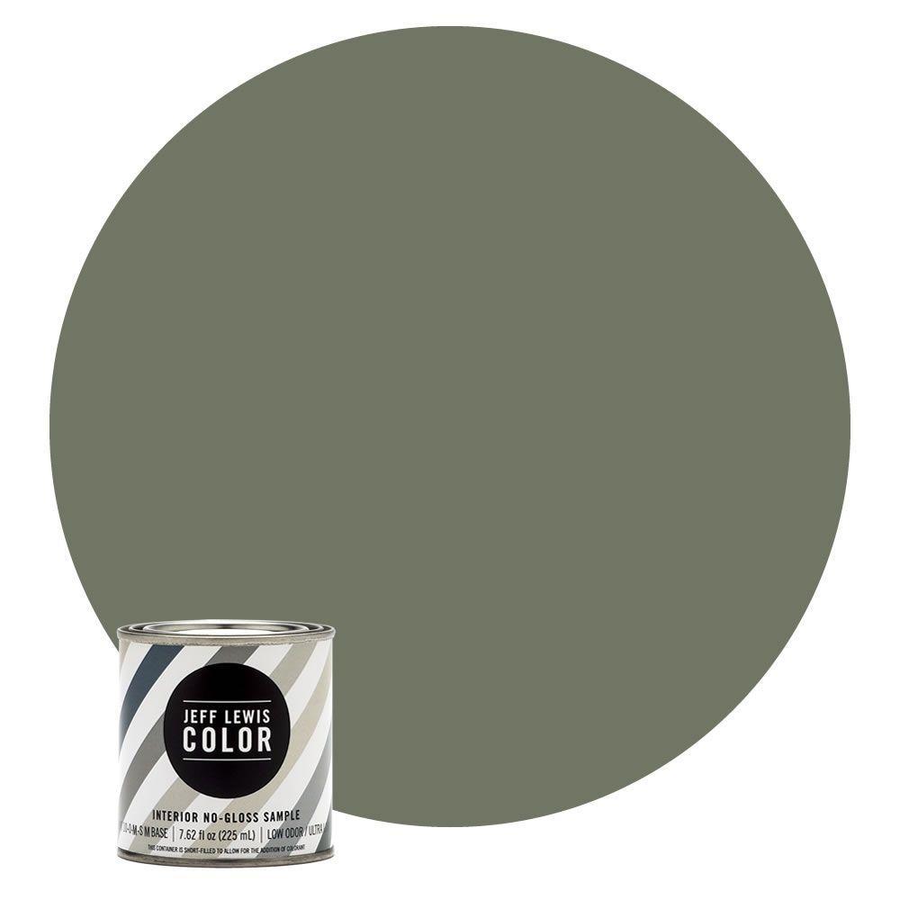 8 oz. #JLC512 Edamame No-Gloss Ultra-Low VOC Interior Paint Sample