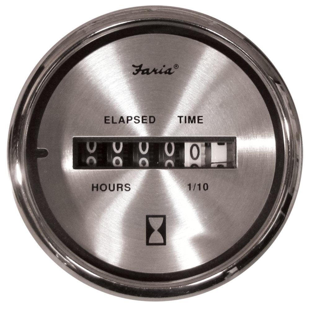 Faria Chesapeake Digital Hourmeter - White SS-13815 - The