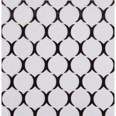 Teardrop Tuxe 12.24 in. x 11.1 in. x 6mm Glossy Porcelain Mesh-Mounted Mosaic Tile (14.10 sq. ft. / case)