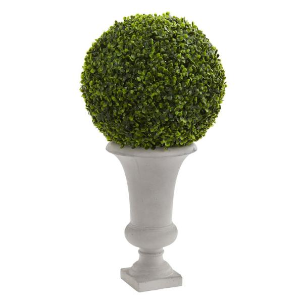 High Indoor Outdoor Boxwood Ball Topiary Artificial Plant In Urn