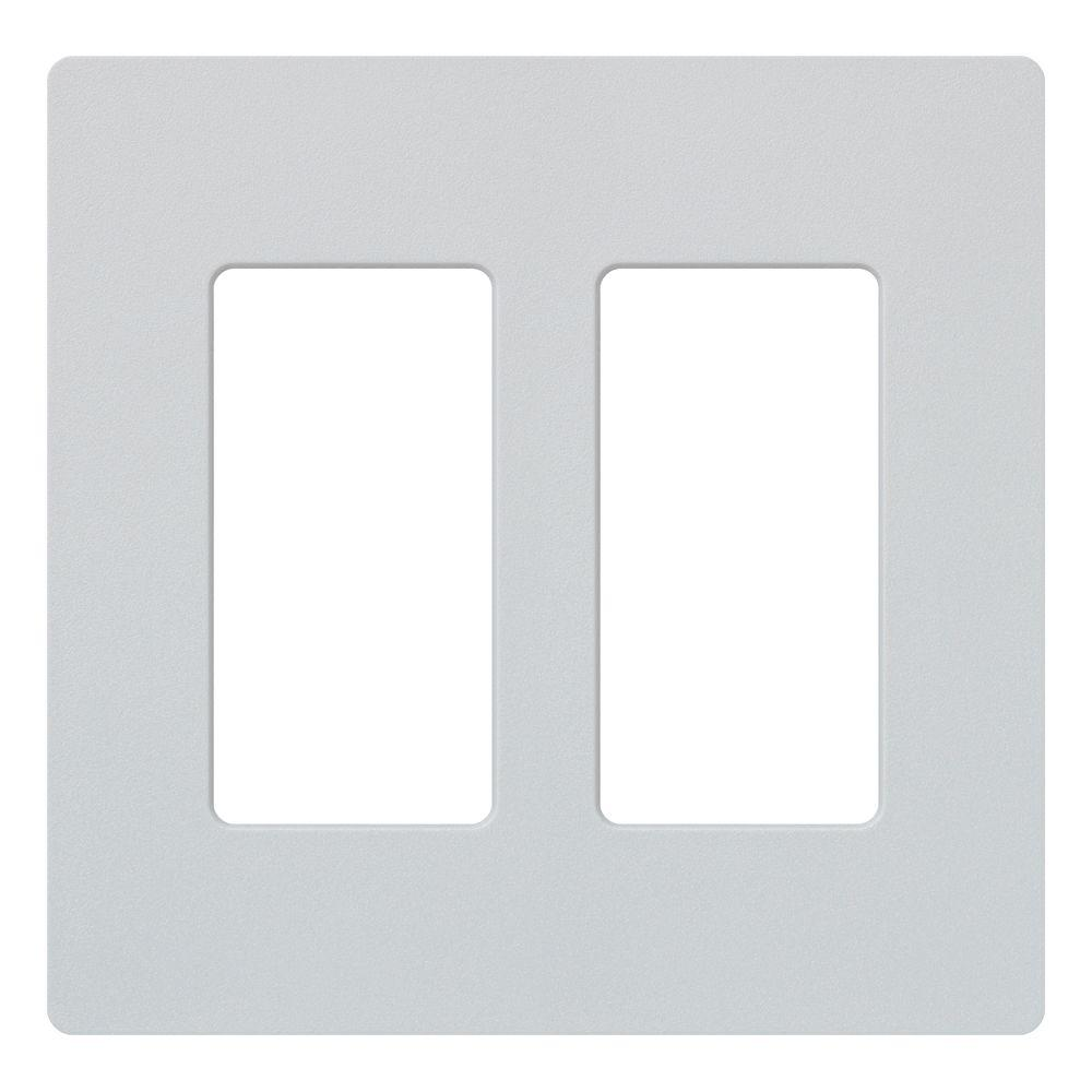Claro 2 Gang Decorator Wallplate, Palladium
