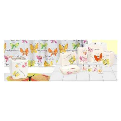 Flutterby' by Kathy Davis 7-Piece Ceramic Bath Accessory Collection