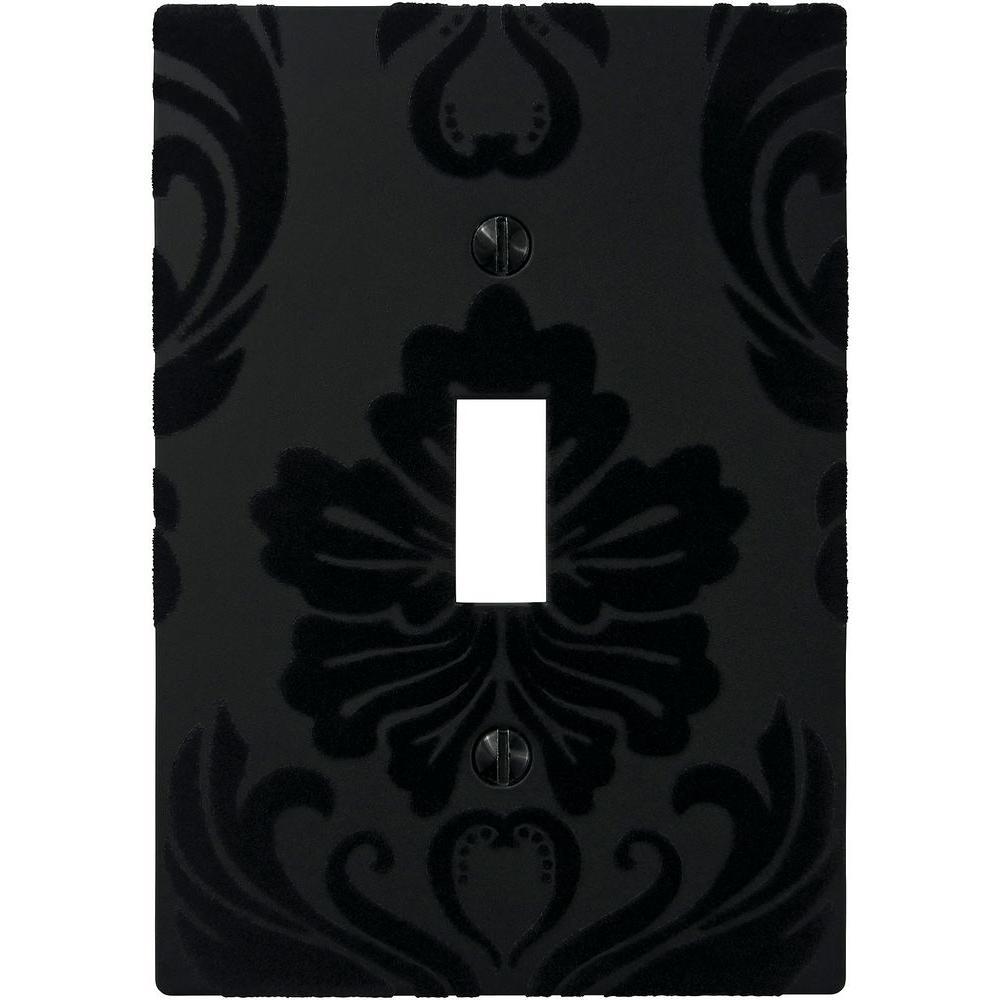 Velvet 1 Toggle Wall Plate - Black