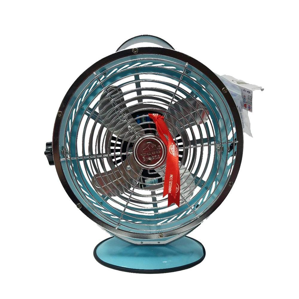 Light Blue 10.9 in. Himalayan Breeze portable Table Fan
