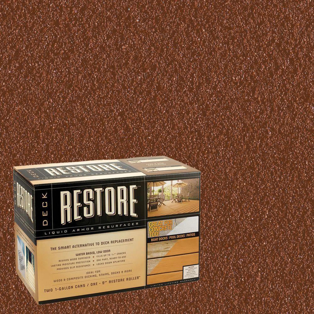 Restore Deck Liquid Armor Resurfacer 2 gal. Kit Water Based California Rustic Exterior Coating