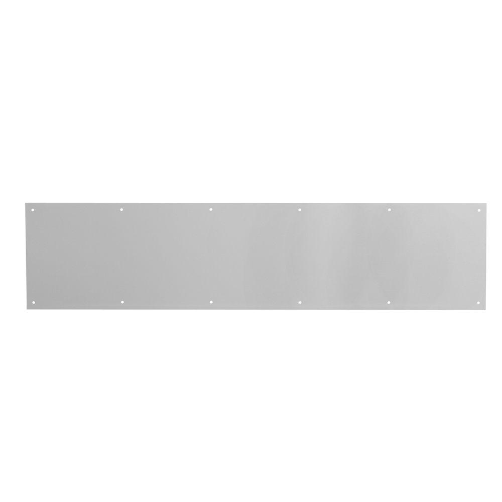 Prime-Line 8 in. x 34 in. Satin Aluminum Door Kickplate