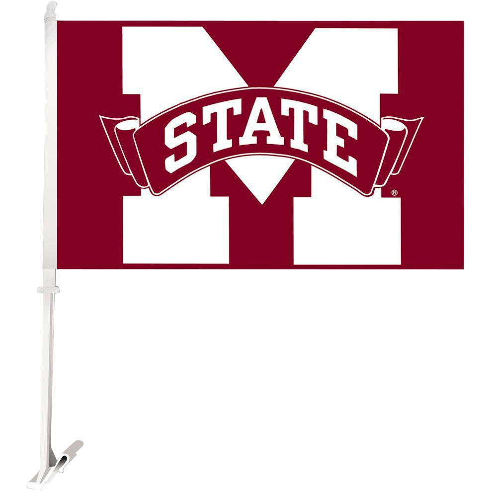 NCAA 11 in. x 18 in. Mississippi State 2-Sided Car Flag