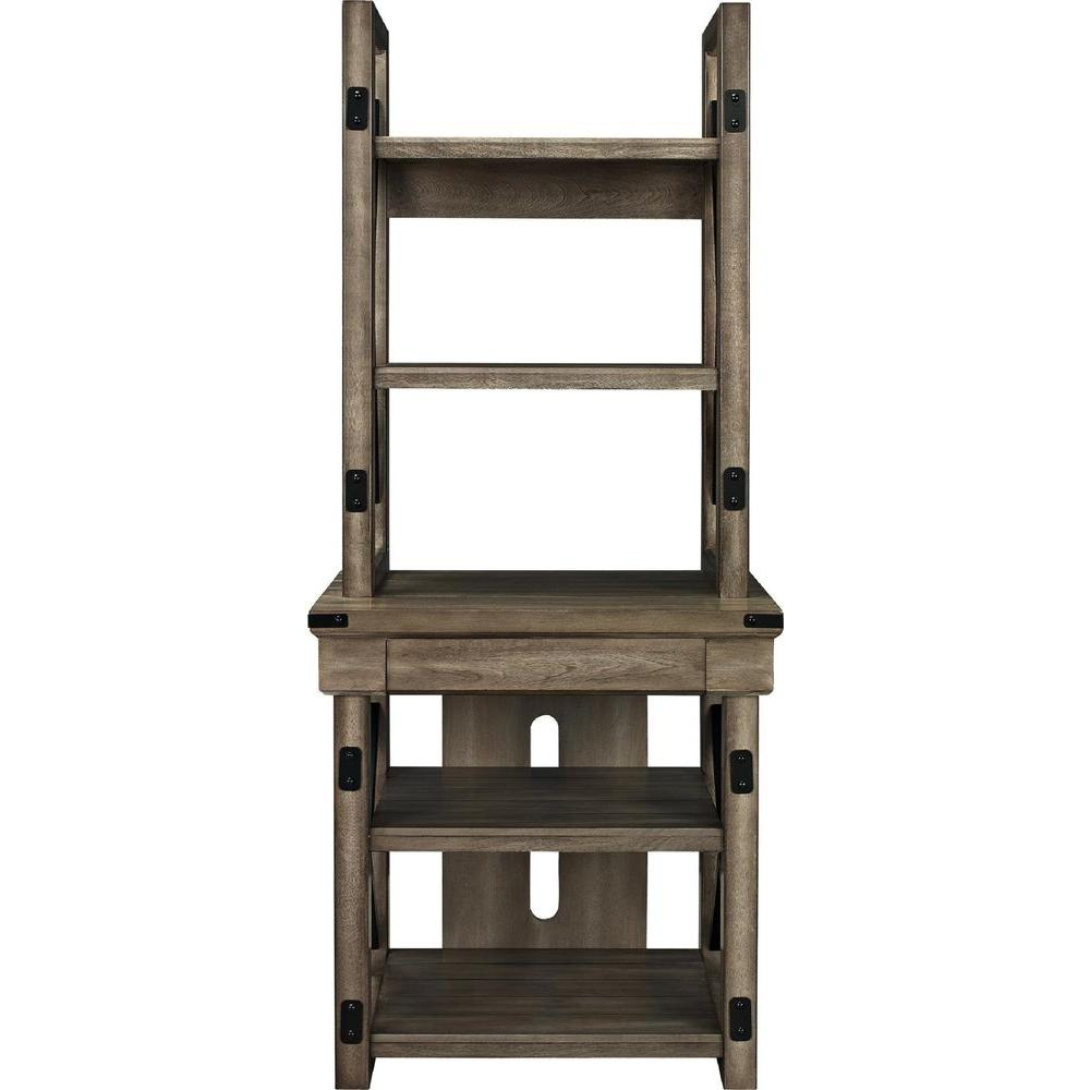 Ameriwood Home Forest Grove Rustic Gray Open Bookcase