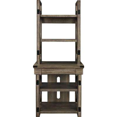 Forest Grove Rustic Gray Open Bookcase