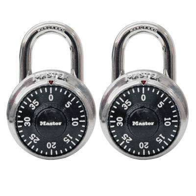 1500T 1-7/8 in. Wide Stainless Steel Preset Combination Padlock with 3/4 in. Long Shackle (2-Pack)