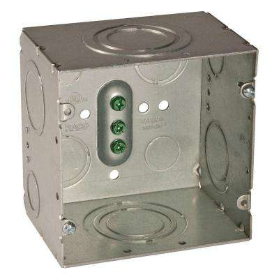 4-11/16 in. Square Welded Box, 3-1/4 in. Deep with 1/2 in. to 2 in. KO's (10-Pack)