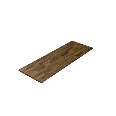 6 ft. 2 in. L x 3 ft. 4 in. D x 1 in. T Island Butcher Block Countertop in Brown Stained Acacia