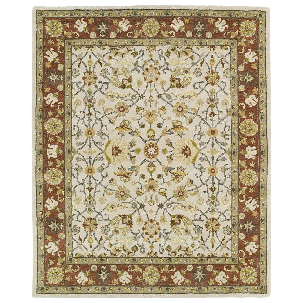 Kaleen Taj Ivory 5 ft. x 7 ft. 9 in. Area Rug