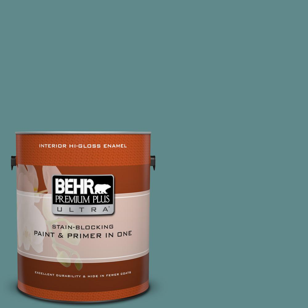 Behr premium plus ultra 1 gal s440 5 tasmanian sea hi for Behr pro paint