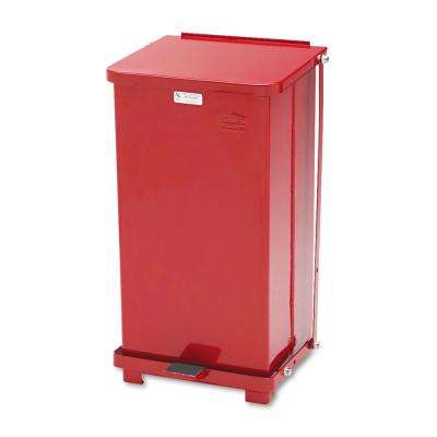 Defenders 12 Gal. Red Square Step-On Medical Trash Can