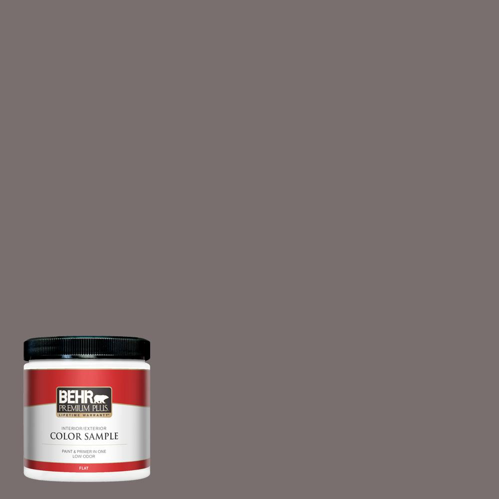 Behr Premium Plus 8 Oz 790b 5 Simple Silhouette Flat Interior Exterior Paint And Primer In One Sample Pp10316 The Home Depot
