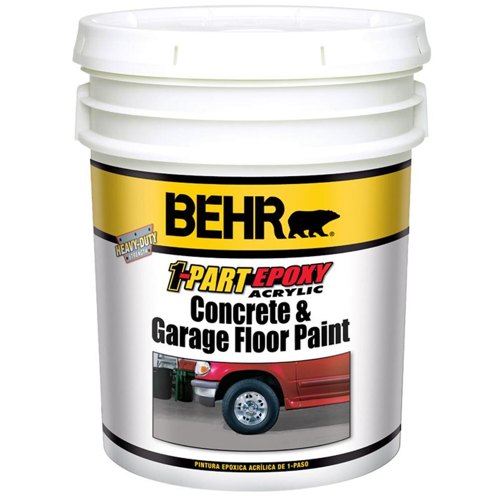 Behr Premium 5 Gal White 1 Part Epoxy Acrylic Concrete