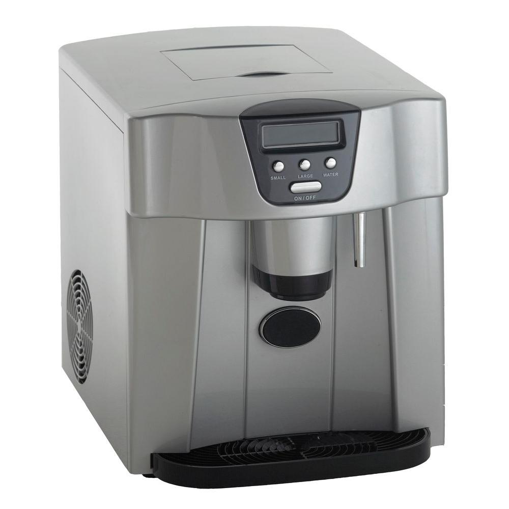 25 lbs. Freestanding Countertop Ice Maker in Platinum