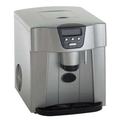 25 lbs. Countertop Portable Ice Maker in Platinum