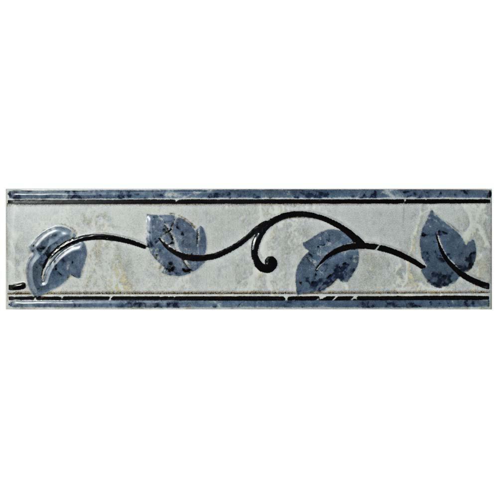 Aroas Listello Gris 2 in. x 8 in. Ceramic Wall Trim Tile