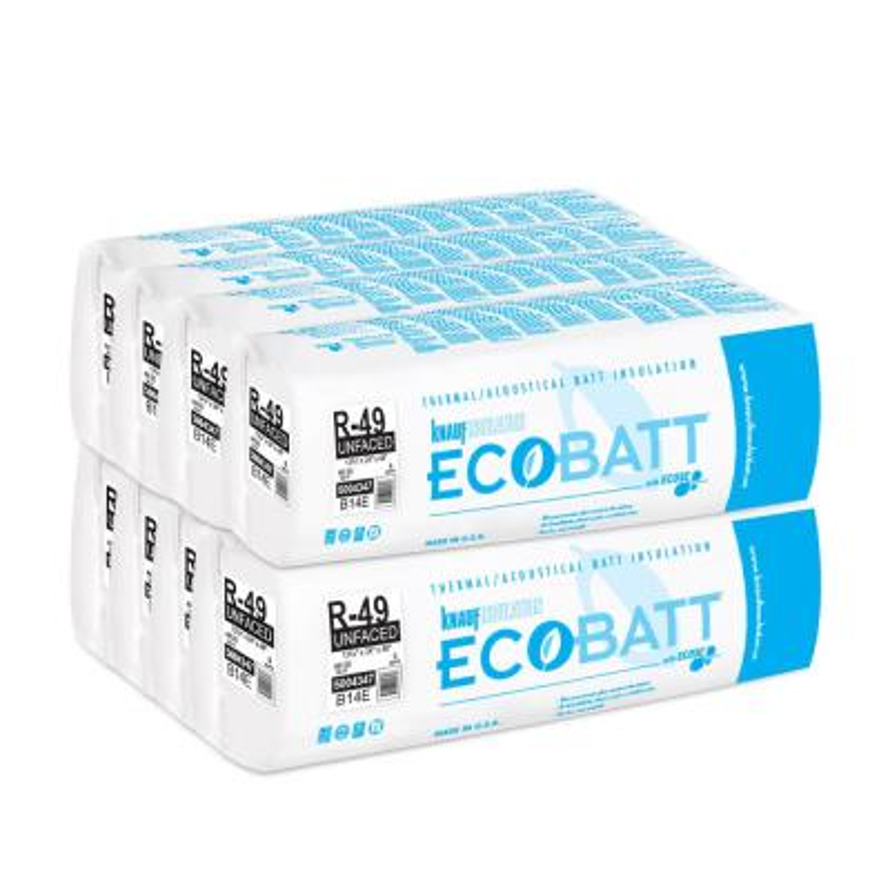 R-49 EcoBatt Unfaced Fiberglass Insulation Batt 13-3/4 in. x 24 in. x 48 in. (8-Bags)