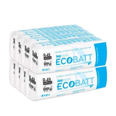 R-49 Unfaced Fiberglass Insulation EcoBatt 13-3/4 in. x 24 in. x 48 in. (8-Bags)