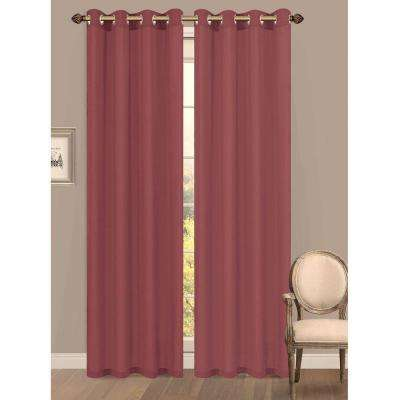 Semi Opaque Primavera Crushed Microfiber Grommet Extra Wide Curtain Panel