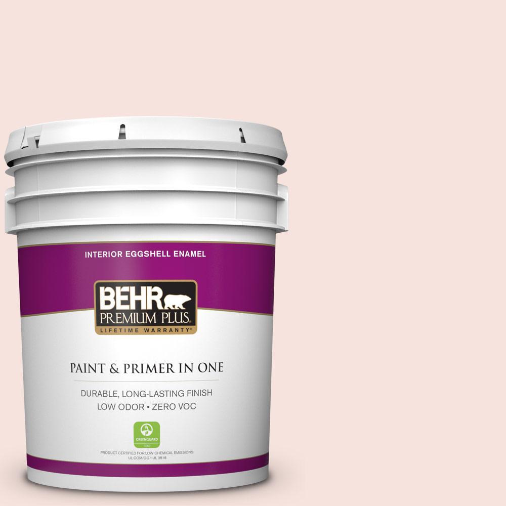 BEHR Premium Plus 5-gal. #180C-1 Paris White Zero VOC Eggshell Enamel Interior Paint