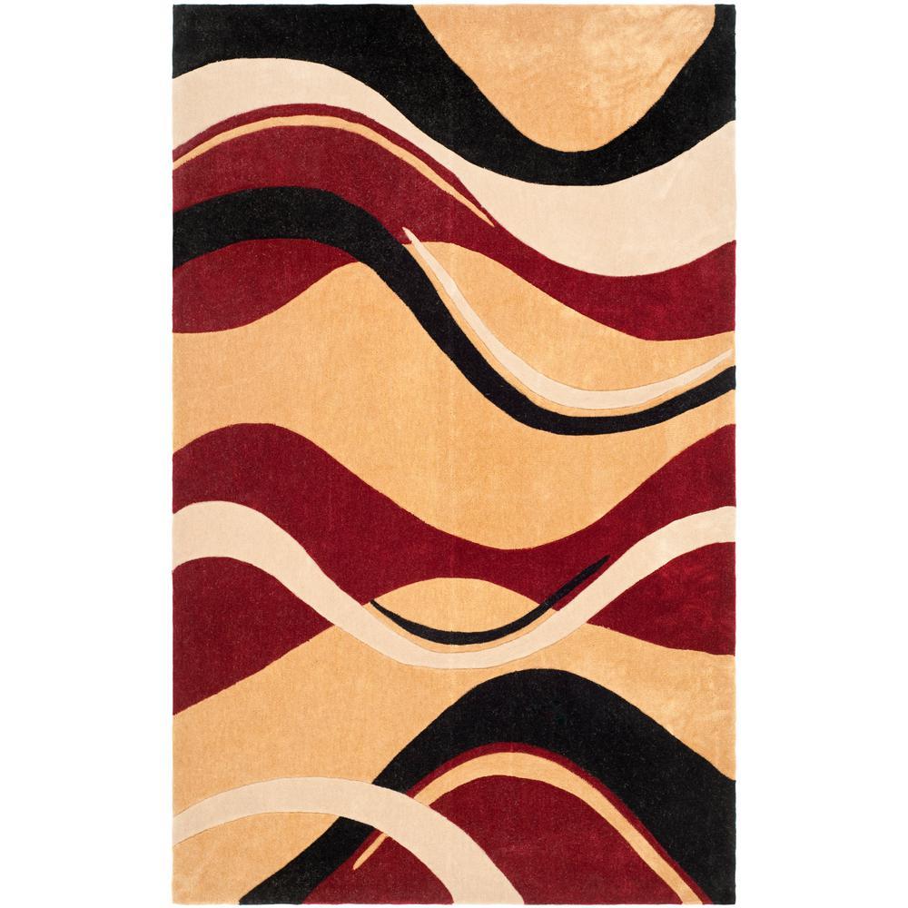 Safavieh Modern Art Rust Ivory 8 Ft X 10 Ft Area Rug