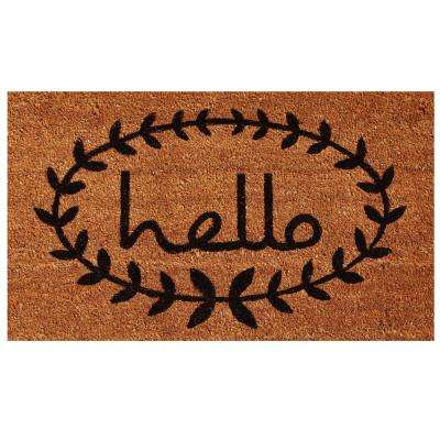 Calico Hello 30 in. x 48 in. Door Mat