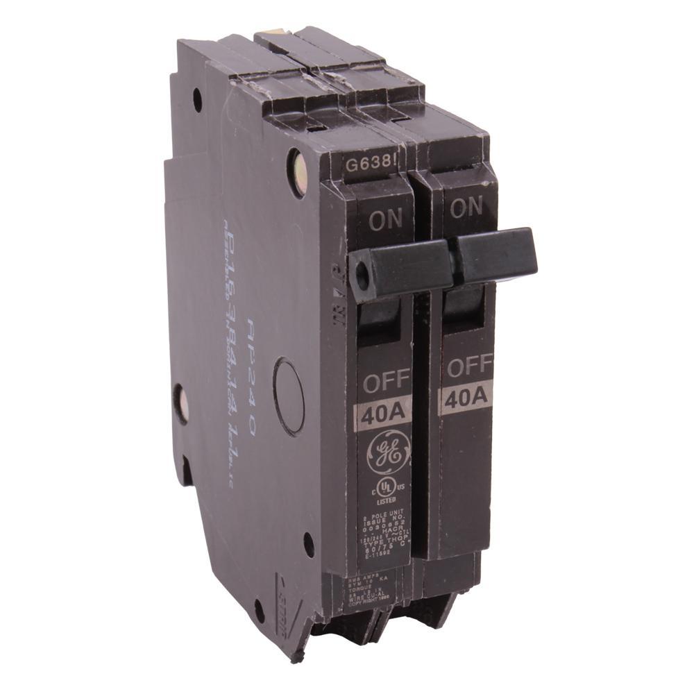 New GE 40 amp PANEL PANELBOARD MLO 1ph TL240SCU 2sp THQL