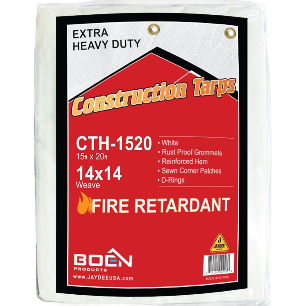 Boen 15 Ft X 20 Ft Fire Retardant Heavy Duty