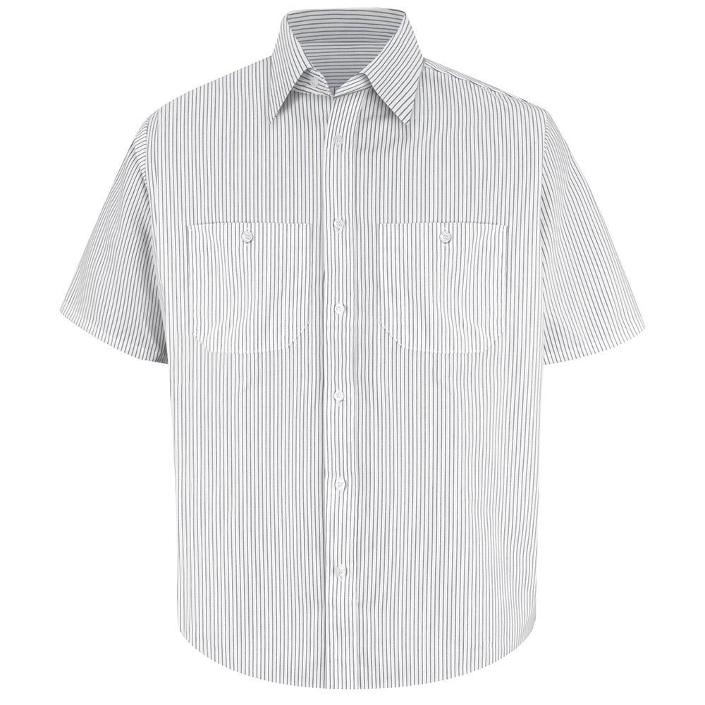 f82210a940 Red Kap Men s Size S White   Charcoal Stripe Striped Dress Uniform ...