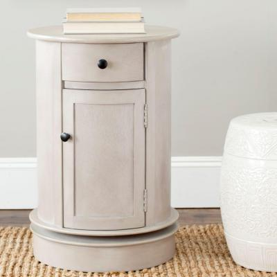Tabitha Vintage Gray Storage End Table