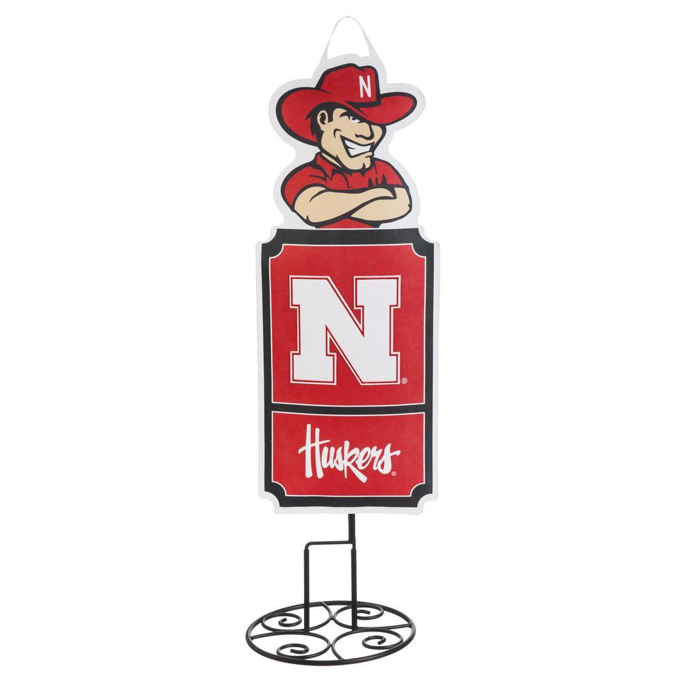 1-1/10 ft. x 3 ft.  University of Nebraska Statement Stake
