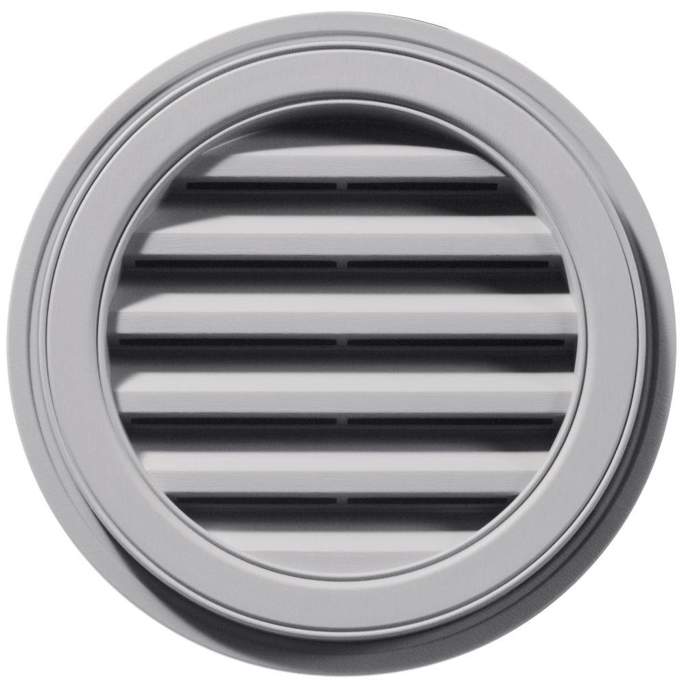 18 in. Round Gable Vent in Gray