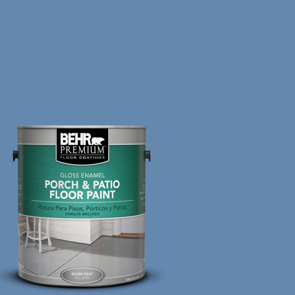 1 gal. #M530-5 Cowgirl Blue Gloss Porch and Patio Floor Paint