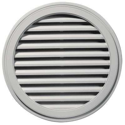 36 in. Round Gable Vent in Paintable