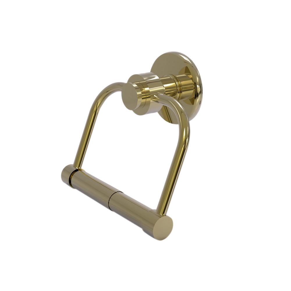 Allied Brass Mercury Collection Single Post Toilet Paper Holder in Unlacquered Brass